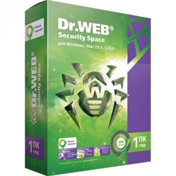 Антивірус Dr. Web Security Space (1 ПК) ліцензія на 3 роки, базова (DW-SS-3Y)