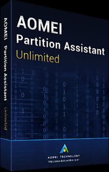Системная утилита AOMEI Partition Assistant Unlimited (неограниченное кол-во ПК и серверов), без обновлений (PAU-00)
