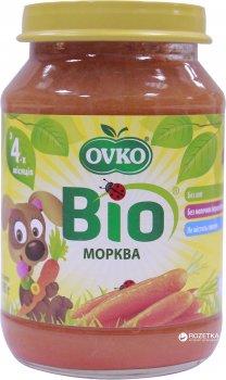 Упаковка овочевого органічного пюре OVKO Морква з 4 місяців 190 г x 6 шт. (8586015172663)