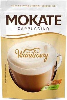 Упаковка розчинного кавового напою Mokate Cappuccino Vanilla 10 шт. по 110 г (26.071) (5902891280538)