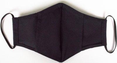 Маска защитная хлопковая Edelvika с фиксацией на переносице и отделением для фильтра Размер M Черная (390-20/00 чорна) (2100000515530)