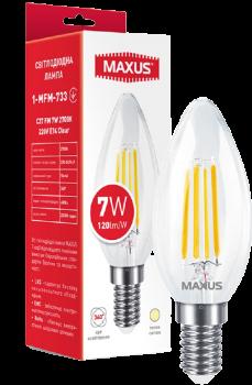 Світлодіодна лампа Maxus C37 FM 7W 2700K 220V E14 Clear (1-MFM-733)