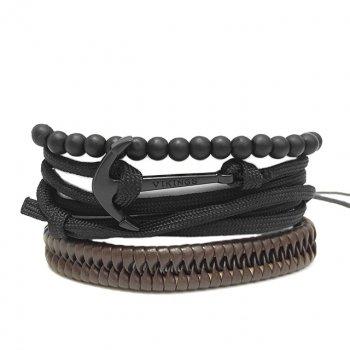 Набор браслетов Викинг DiaDemaGrand Черный с коричневым (051834-19-9)