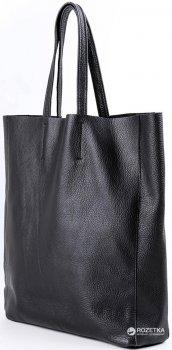 Кожаная сумка POOLPARTY City (city-black)