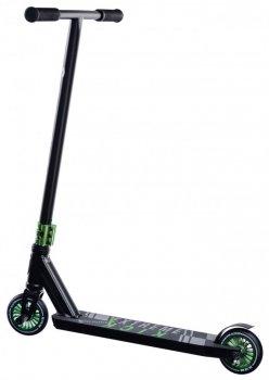 Трюковий самокат Maraton DEXTER з рульовою системою HIC + 2 пеги, Зелений металік
