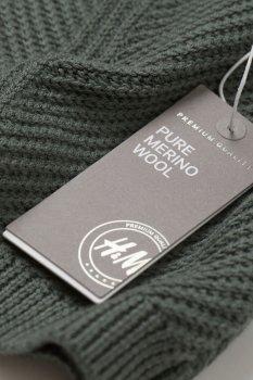 Вовняний джемпер H&M Темний тьмяно-зелений (0755700004)