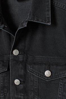 Джинсова куртка H&M 7356001-AAAD Чорна