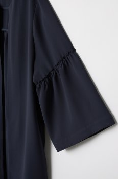 Пальто H&M 6549138-AAQJ Темно-синее