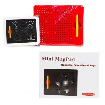 Магнітний планшет Magnetic MagPad для малювання 380 кульок Червоний (MP003)