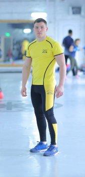 Спортивний чоловічий набір Glory yellow 2 0 FitU od0004715 Жовтий