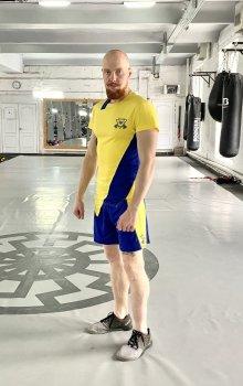 Спортивний чоловічий набір (Футболка шорти) Grade b-yellow 1 0 FitU od0004825 Жовтий