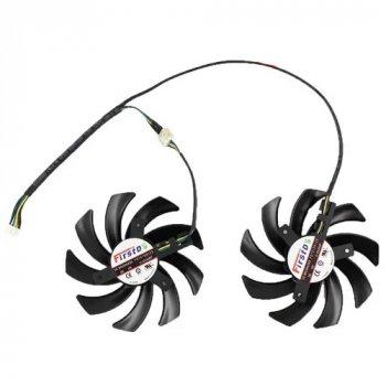 Вентилятори FirstD 2 шт 75 мм 12 4 пін FD7010H12S для GTX 660 670 680 690
