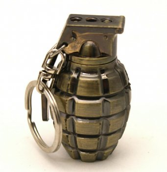 Ліхтар брелок граната 810-2LED, лазер, 3xLR1130