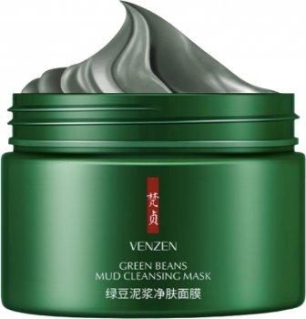 Маска для лица Bioaqua Venzen Green Beans Mud Cleansing Mask Грязевая с бобами 100 г (6941349331094)