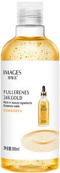 Эссенция для лица Images Fullerenes 24K Gold Омолаживающая с экстрактом золота 300 мл (6941349323594)