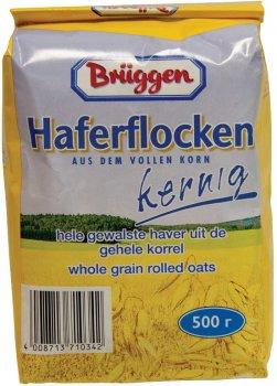 Упаковка вівсяних пластівців Bruggen Haferflocken Kernig 500 г х 20 шт. (4008713763287)