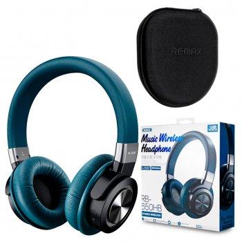 Bluetooth наушники с микрофоном Remax RB-650HB синие