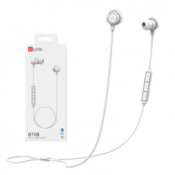Bluetooth наушники с микрофоном UiiSii BT118 белые