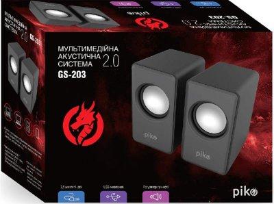 Комп'ютерна акустична система 2.0 Piko GS-203 Black