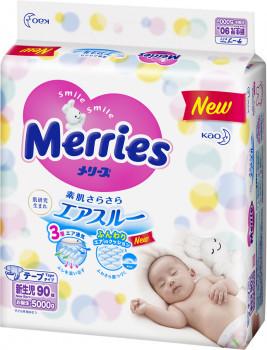 Подгузники Merries (Мерриес) NB (0-5кг) 90шт.
