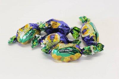 Натуральные органические шоколадные конфеты Росичи Абрикос с орехом (Абрикос з горіхом), 1 кг