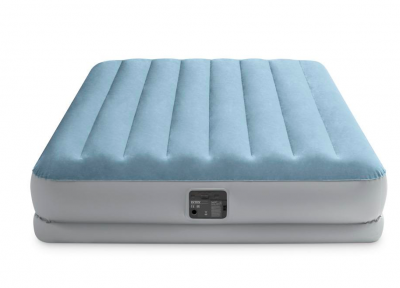 Надувна двоспальне ліжко Intex 64168 з вбудованим насосом 220 V (152*203*36 см)