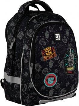 Рюкзак Kite Education Transformers для хлопчиків 710 г 38x28x16 см 18 л Чорно-сірий патерн (TF21-700M)