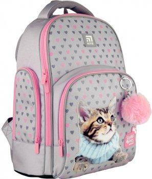 Рюкзак Kite Education Studio Pets для дівчаток 830 г 38x29x16.5 см 16 л Фіолетовий (SP21-706M)