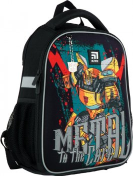 Рюкзак Kite Education Transformers каркасний для хлопчиків 830 г 35x26x13.5 см 12 л Чорний (TF21-555S)