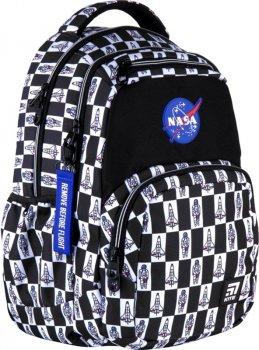 Рюкзак Kite Education teens NASA унісекс 970 г 44x31.5x14 см 26 л Чорно-білий (NS21-903L)