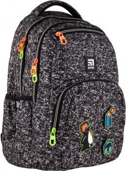 Рюкзак Kite Education teens для хлопчиків 940 г 44x31.5x14 см 26 л Чорно-білий (K21-903L-2)
