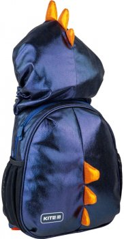 Рюкзак Kite Kids Black Dino для хлопчиків 300 г 30х25.5х11 см 8 л Чорний (K21-567XS-2)