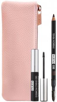 Набір для макіяжу брів Pupa Eyebrow Essential Kit №003 Dark Brown 10 г (8011607333738)