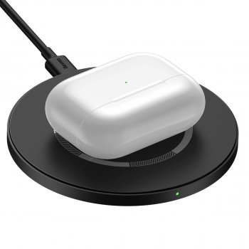 Беспроводное ЗУ Baseus Simple Magnetic Wireless Charger Black (WXJK-E01)