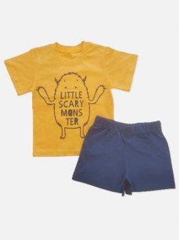 Пижама (футболка + шорты)  Кена 207231-19 Оранжевая