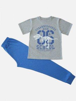 Пижама (футболка + штаны)  Кена 227331-08 Серая меланж