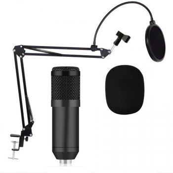 Студійний мікрофон Music D. J. M800 зі стійкою і вітрозахистом Black (np955777926)