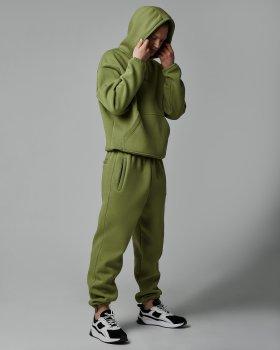 Теплий спортивний костюм оверсайз Over Drive Scale оливковий