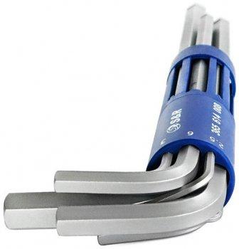 Набор ключей шестигранных S&R Cr-V удлиненных с шарниром 2-10 мм 8 шт (365614008)