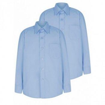 Голубая рубашка George с длинным рукавом, для мальчика