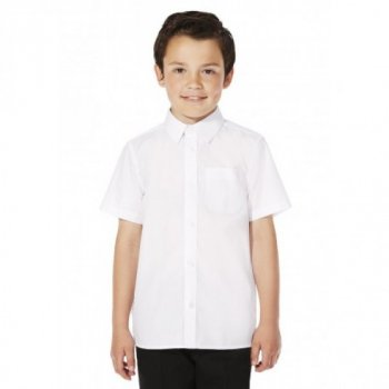 Белая рубашка George с коротким рукавом, для мальчика