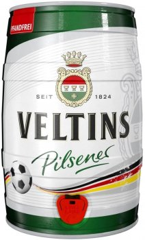 Пиво Veltins Pilsener светлое 4.8% 5 л (4005249000596)