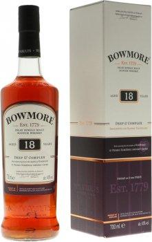 Виски односолодовый Bowmore 18 лет выдержки в подарочной упаковке 0.7 л 43% (5010496004555)