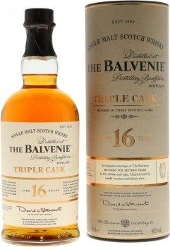 Виски односолодовый Balvenie Triple Cask в подарочной упаковке 0.7 л 40% (5010327545073)