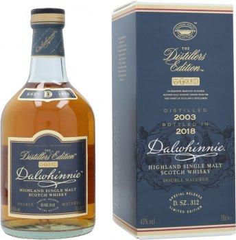 Виски односолодовый Dalwhinnie Distillers Edition 2003-2018 в подарочной упаковке 0.7 л 43% (5000281052861)