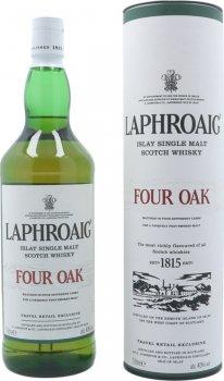 Виски односолодовый Laphroaig Four Oak в подарочной упаковке 1 л 40% (5010019638144)