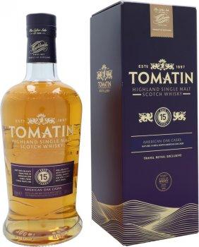 Виски односолодовый Tomatin 15 лет выдержки в подарочной упаковке 0.7 л 46% (5018481025646)