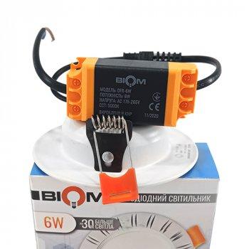 Світильник LED Biom Downlight DFR-6W 6Вт білий круглий 5000К