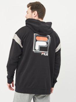 Спортивна кофта Fila 107691-BA Чорна із сірим