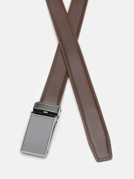 Мужской ремень кожаный Laras C33-0200-1 115-125 см Коричневый (ROZ6400030372)